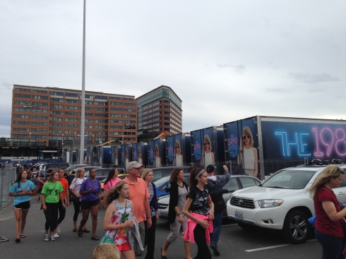 Taylor Swift tour busses