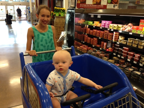 Riding in a car cart - August 9, 2015