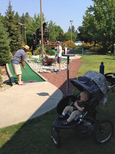 Mini golf in Leavenworth - 8/13/15