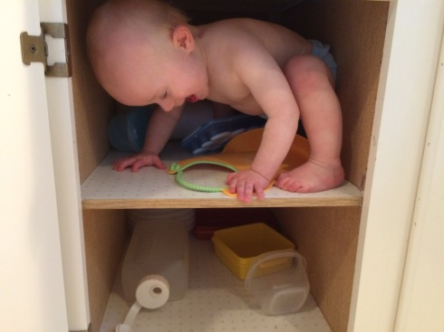 Climbing into a cupboard - September 16, 2015