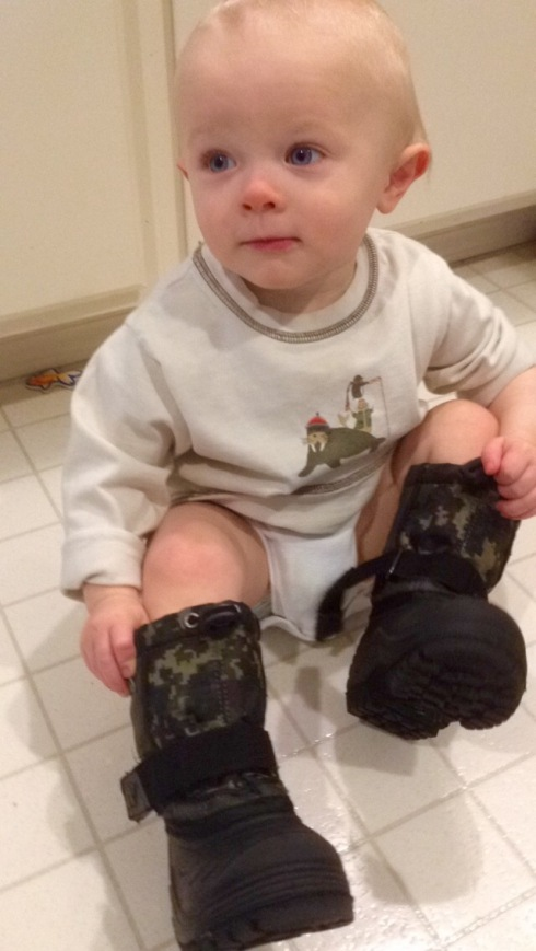 Todd and his boots - December 16, 2015