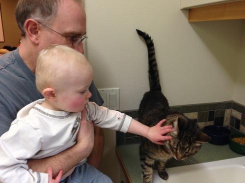 Eric, Todd & Kaiser cat - December 26, 2015