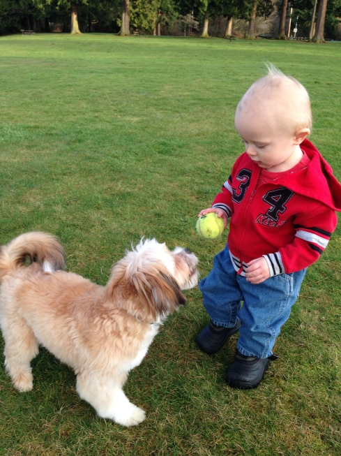 Playing with a new friend - January 24, 2016