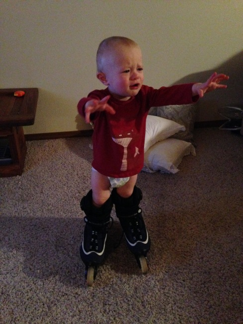 He wants to zoom on skates! - March 5, 2016