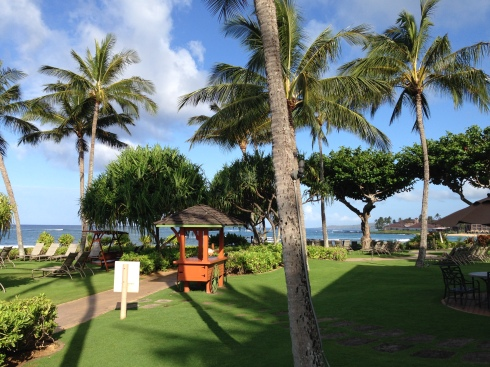 View from our room at the Waiohai Beach Club - May 28, 2016