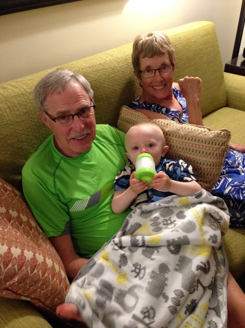 Before bed snuggles with my parents - May 31, 2016