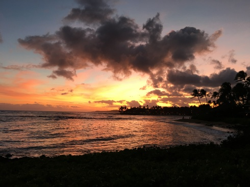 Kauai sunset - June 1, 2016