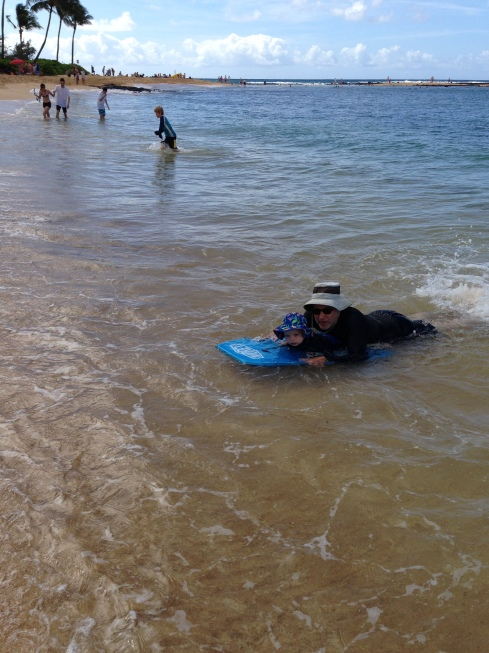 Eric & Todd on the boogie board - June 1, 2016
