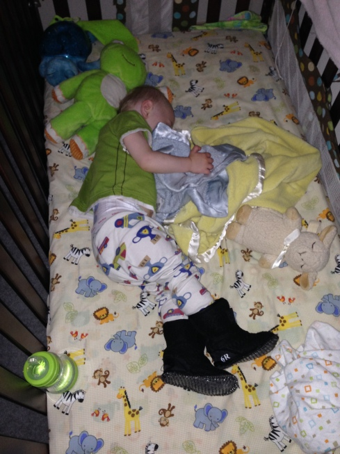 Napping in his boot liners - June 10, 2016