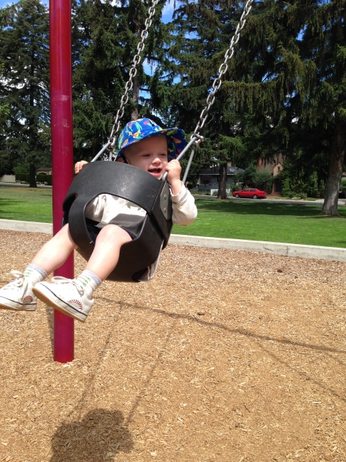 Swinging at Washington Park (Wenatchee) - June 11, 2016