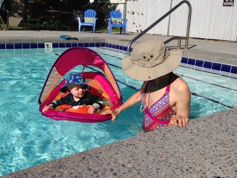 Condo pool - June 12, 2016