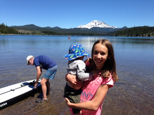 Elk Lake, OR - cousins - June 25, 2016