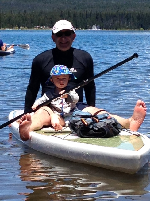 Paddle boarding with Eric - June 25, 2016