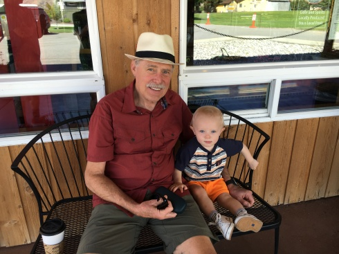 Todd and his Grandpa - August 18, 2016