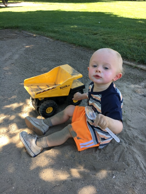 Playing at my parents' campsite - August 18, 2016