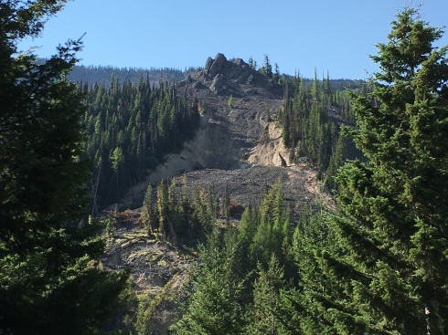 Eric & Todd checked out the landslide at Mission Ridge - August 31, 2016