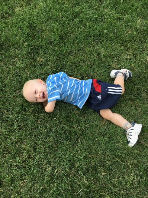 He loves grass! - August 21, 2016