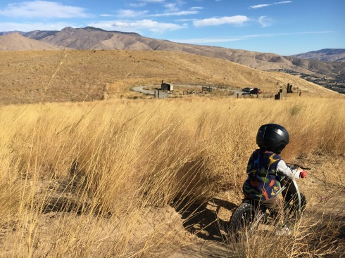 Todd's 1st mountain bike ride - Horse Lake Reserve - October 1, 2016