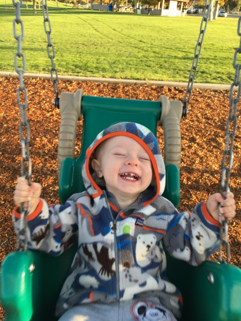 Swinging at Walla Walla Park - October 20, 2016