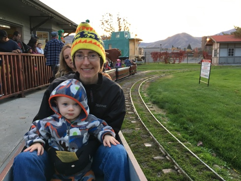 Halloween mini-train ride - October 31, 2016
