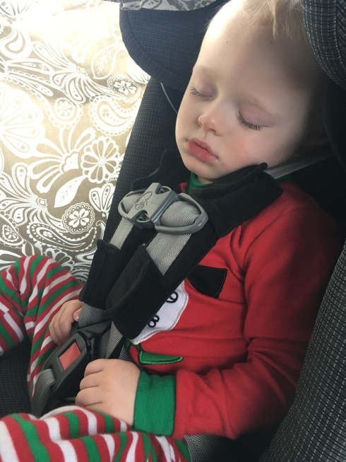 Napping in the car - December 26, 2016